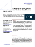 Psychometric Properties of OPMH-40, A Survey for the Evaluation of the Occupational Positive Mental Health