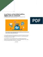 La Primera Universidad Pública Digital Está en Antioquia _ EL UNIVERSAL - Cartagena