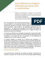 Las secuencias didácticas en lenguaje, una potente estrategia para el desarrollo de  competencias comunicativas.pdf