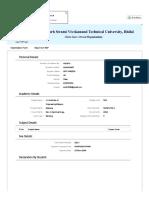Examination Form