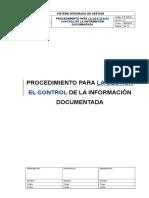 PR-SIG-01 Procedimiento Para La Gestion de La Informacion Documentada ULTIMO