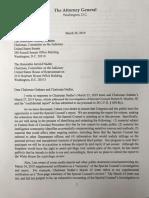 Barr Letter on Mueller