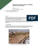 Control de Caída de Piedras (Sccp) en Taludes de La Costa Verde