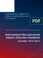 IB Diploma November 2019 Subject Selection Guide