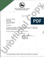 Kelly Johnson Personal Financial Statement 2009
