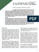 Estructura de La Avifauna 1992