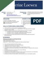 loewen c-resume