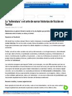 La 'Tuiteratura' o El Arte de Narrar Historias de Ficción en Twitter - RT