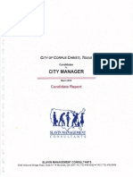 Report on candidates for Corpus Christi City Manager