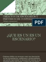 Creacion de Escenarios y Prevision de Contingencias