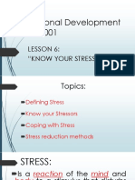 Knowing your stressor