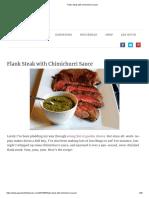 Recipe - Flank Steak with Chimichurri Sauce