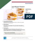 Rezept PDF Schnelles Quark Pfirsich Dessert