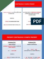 Present Continuous X Simple Present