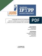 Informe del Instituto de Pensamiento y Políticas Públicas de Unidad Popular