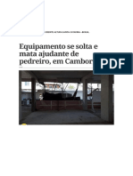Acidente Altura Santa Catarina
