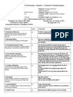 elementary education - justus emily -  observation 2 - domain 1   3 checklist report