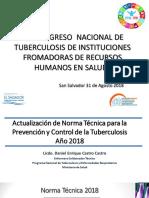5. Actualización de Norma Técnica TB Año 2018