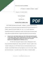 Maravelias's 3/28/19 Motion for Clarification