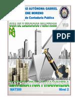 MATEMATICAS FINANCIERA (Nivel 2) UAGRM (V19)