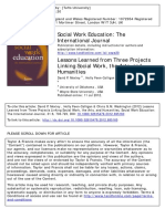 ARTICULO - 2012 - Lessons Learned From Three Projects Linking Social Work, The Arts, And Humanities
