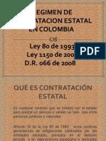 Régimen de Contratacion Estatal en Colombia