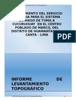 Informe Topografico - Canal Huamantanga