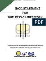 Method Statement for Diversion Tunnel Works