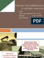 ARSITEKTUR DAN POLA BERPAKAIAN DI NEGARA THAILAND