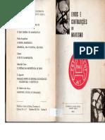 Erros e Contradições Do Marxismo - Varlan Tcherkesoff