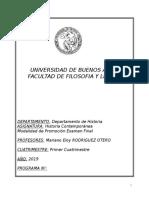 Historia Contemporánea (Otero) - 1c 2019