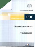 Informe Inspeccion Tecnica de Obra 2-14 Municipalidad de Pelluhue Construccion Polideportivo Municipal de Pelluhue - Septiembre 2014