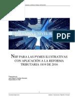 NIIF PARA LAS PYMES ILUSTRATIVAS CON APLICACIÓN A LA REFORMA TRIBUTARIA 1819 DE 2016
