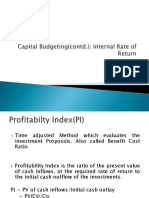Capital Budgeting Prof Index