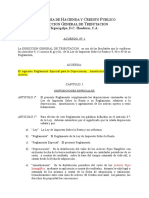 Reglamento Esp  para Depreciación y Amortización de Activos