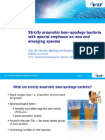 Nr 23 Strictly Anaerobic Beer Spoilage Bacteria With Special Emphasis on New and Emerging Species Riikka Juvonen