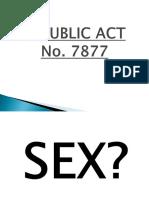 lET REVIEW Republic Act 7877