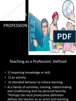 Teacher as a Profession