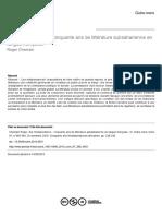 Litterature Subsaharienne en Langue Française