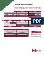 msn  a term start  program schedule 2018