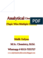 Analytical Chemistry Mcq's