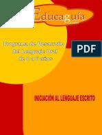 Programa de Lenguaje Escritura 1