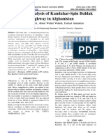 Accidents Analysis of Kandahar-Spin Buldak Highway in Afghanistan