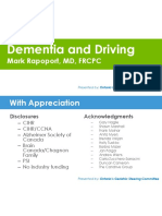 Dementia and Driving by Mark Rapoport
