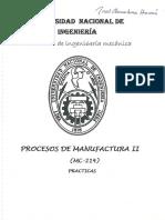 Procesos de Manufactura II - Examenes UNI