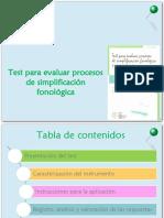test para evaluar procesos fonológicos