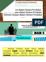 Elemen input, proses,output dalam sistem produksi