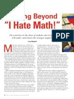 getting beyond i hate math