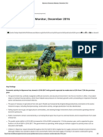 Myanmar Economic Monitor, December 2016