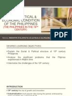 Socio Political and Economic Condition in the Philippines